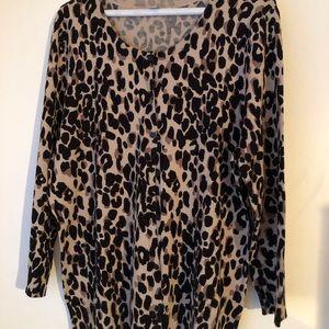 Halogen Leopard Cardigan